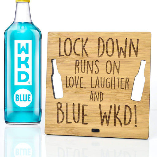 Lockdown Runs On Love Laughter And Blue WKD Self Isolation Gift Plaque For House - Shoppersbase