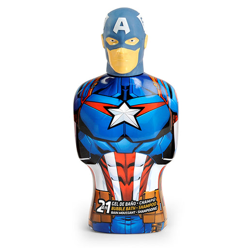 2-in-1 Gel and Shampoo Avengers Capitán América Cartoon (475 ml) - Shoppersbase