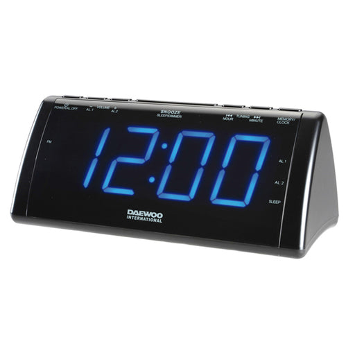 Radio Alarm Clock with LCD Projector Daewoo 222932 USB - Shoppersbase