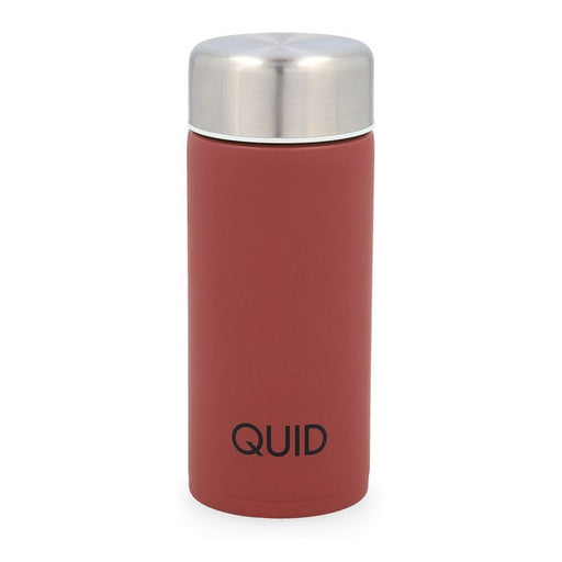 Travel thermos flask Quid Arizona Burgundy Stainless steel 0,2L - Shoppersbase