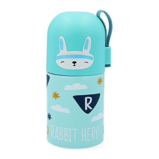 Travel thermos flask Quid Rabit Go Hero Multicolour Stainless steel 0,35 L - Shoppersbase