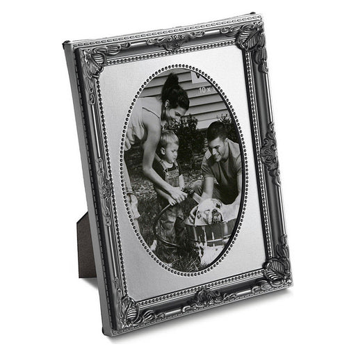 Photo frame Plastic Vintage Silver Oval - Shoppersbase