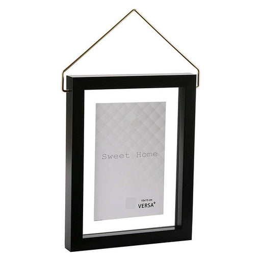 Photo frame Diamond Plastic Black - Shoppersbase