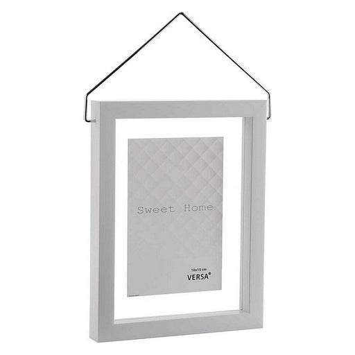 Photo frame Diamond Plastic White - Shoppersbase