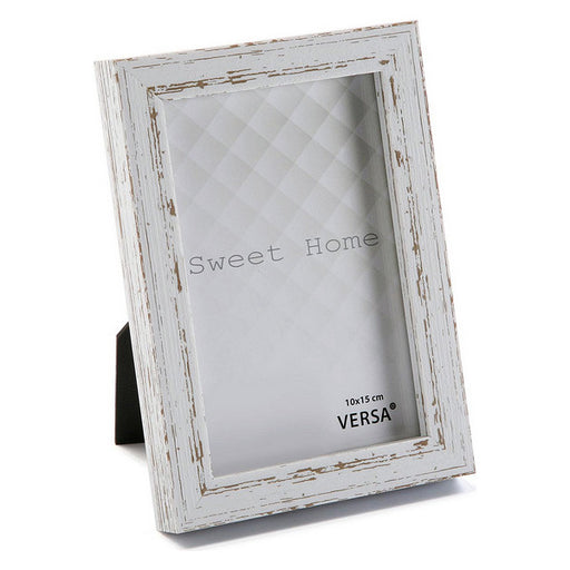 Photo frame Vintage MDF Wood White - Shoppersbase