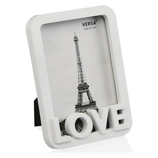 Photo frame Love Plastic White - Shoppersbase