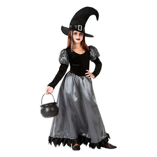 Costume for Children 112209 Witch Black Grey (2 Pcs) - Shoppersbase