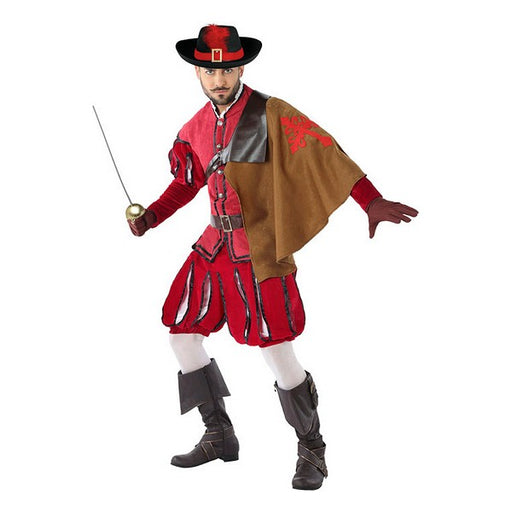 Costume for Adults 113817 Male musketeer Red (3 Pcs) - Shoppersbase