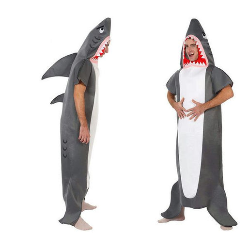Costume for Adults Shark Grey (1 Pcs) - Shoppersbase