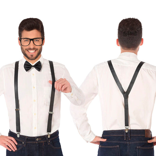 Costune accessorie Braces Bow tie Black - Shoppersbase