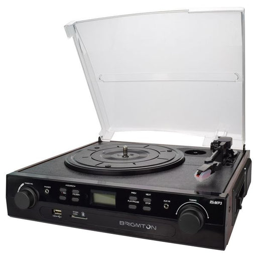 Record Player + Cassette Recorder BRIGMTON BTC-406REC USB SD / MMC - Shoppersbase