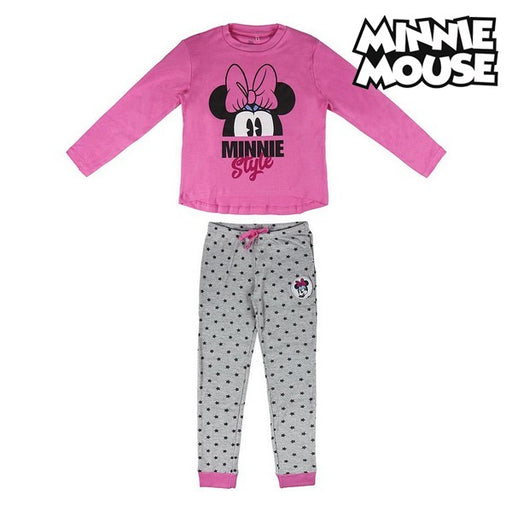 Children's Pyjama Minnie Mouse 74811 Pink Grey - Shoppersbase