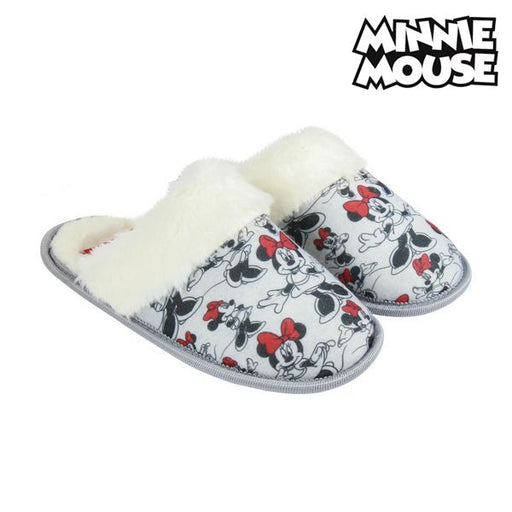 House Slippers Minnie Mouse Grey White - Shoppersbase