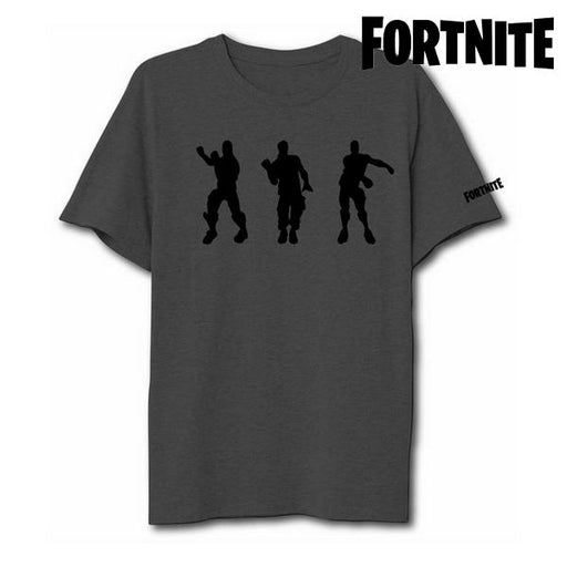 Unisex Short Sleeve T-Shirt Fortnite 75063 Grey - Shoppersbase