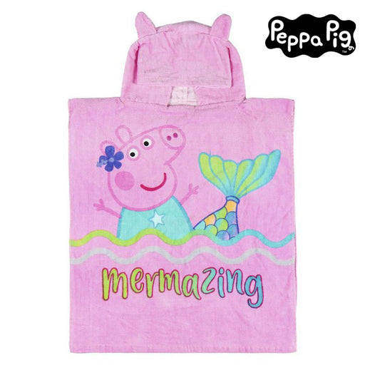 Poncho-Towel with Hood Peppa Pig Cotton - Shoppersbase