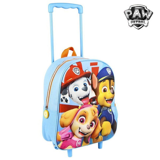 3D School Bag with Wheels The Paw Patrol Blue - Shoppersbase