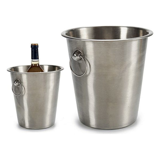 Ice Bucket Steel (22 x 21 x 22 cm) - Shoppersbase