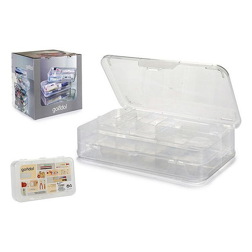 Multi-Purpose Organiser Plastic (21,5 x 5 x 13 cm) - Shoppersbase