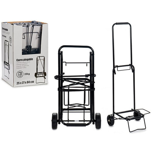 Multi-purpose Cart Black (29 x 84 x 25 cm) - Shoppersbase