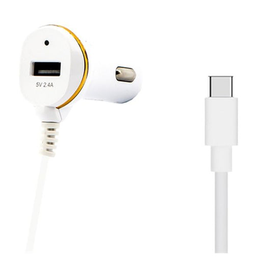Car Charger Ref. 138239 USB White - Shoppersbase