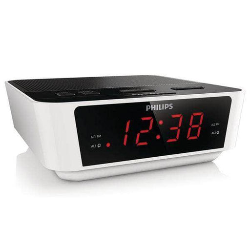Clock-Radio Philips AJ3115/12 LED FM 1W White - Shoppersbase