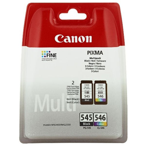 Original Ink Cartridge (pack of 2) Canon PG-545/CL546 Tricolour Black - Shoppersbase