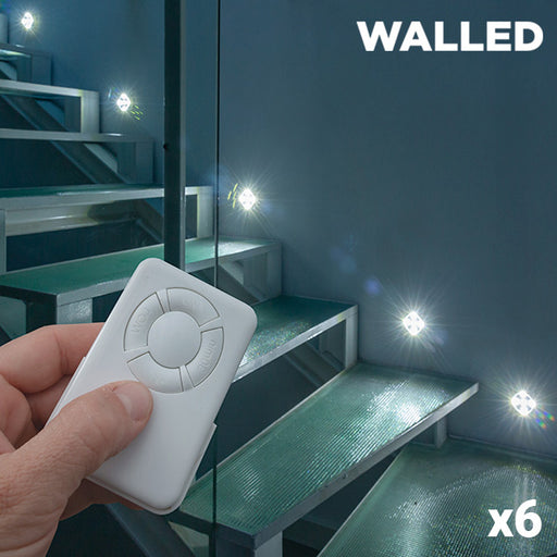 WalLED Mini LED Lamps with Remote Control (pack of 6) - Shoppersbase