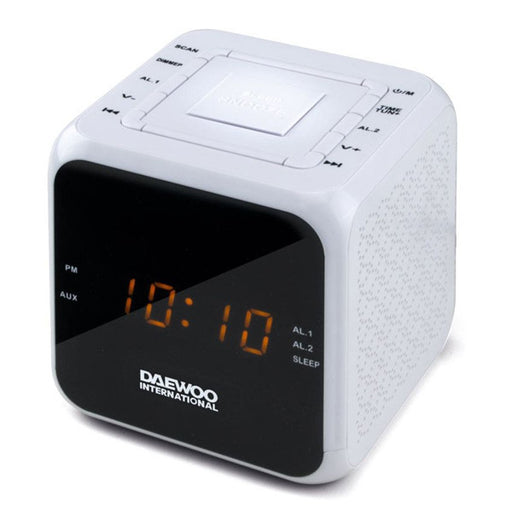 Clock-Radio Daewoo DCR-450 White - Shoppersbase