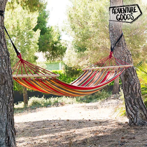 Adventure Goods Multicoloured Hanging Hammock - Shoppersbase