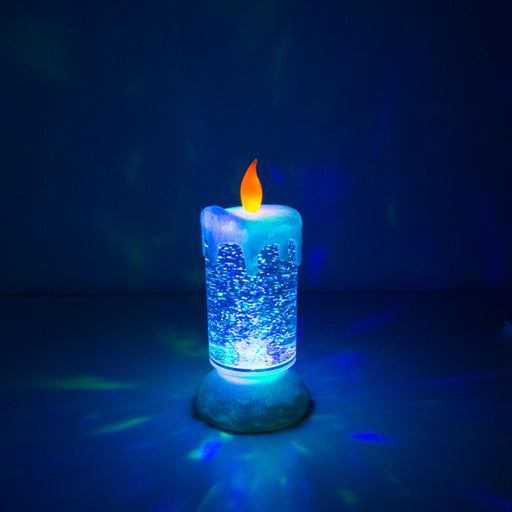 Homania Multicolour LED Candle with moving Liquid and Glitter - Shoppersbase