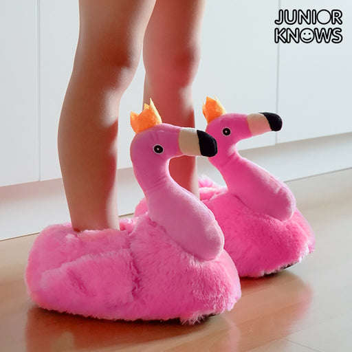 Junior Knows Flamingo Children's Slippers - Shoppersbase