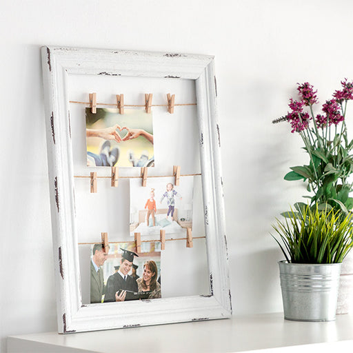 Clothesline Wood Photo and Note Frame (38 x 48) - Shoppersbase