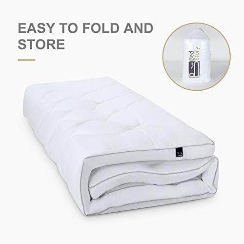 BedStory Mattress Topper Double, Down Alternative Fill Mattress Topper for 4ft Bed, 2.3 Inch Thick Hotel Quality Bed Topper 135x190 cm - Shoppersbase