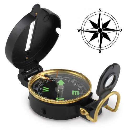 Lensatic Compass with Cover and Viewer - Shoppersbase
