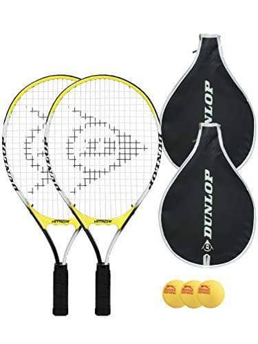 "Dunlop 2 x Junior (19"", 21"", 23"", 25"") Tennis Rackets - Includes Ball Options (2 x 25, Nitro) - Shoppersbase"