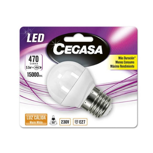 Spherical LED Light Bulb Cegasa E27 5,5 W A+ - Shoppersbase