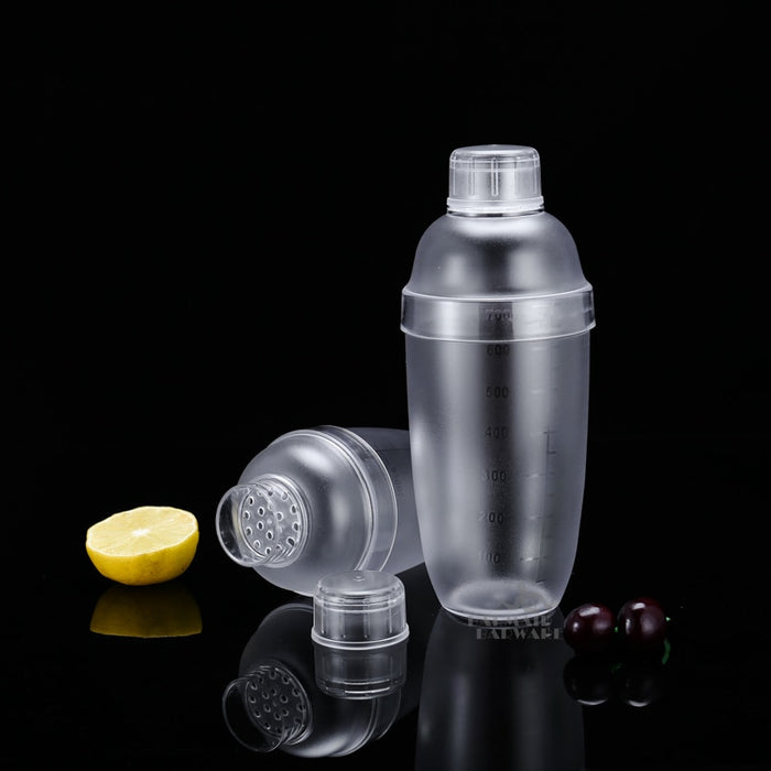 Plactic Cocktail Boston Bar Shaker Transparent Good Grips PC Bar Tool Accessory - Shoppersbase