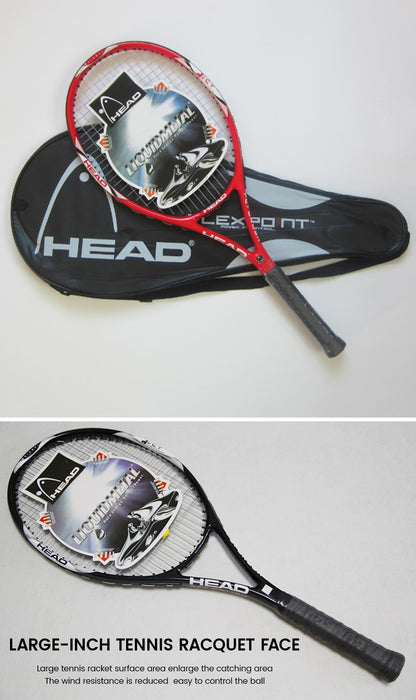 100% Original HEAD Tennis Racket Free With Tennis Bag Top Carbon Fiber Material With Tennis String Fixed For Match And Training - Shoppersbase