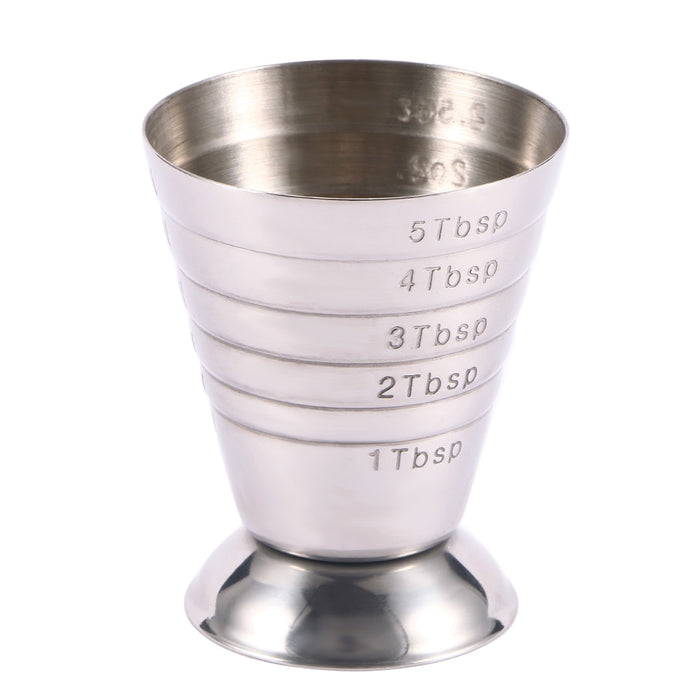 75ml Stainless Steel Bar Wine Cocktail Shaker Jigger Single Double Shot Drink Mixer Wine Measurer Cup Bar Tools - Shoppersbase