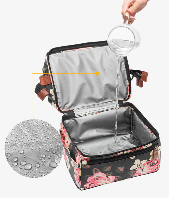 Nylon Picnic Basket Portable Cooler Insulated Box Travel Lunch BBQ Camping Outdoor Picnic Bag Waterproof - Shoppersbase