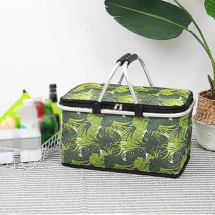 Multi-Functional Large Capacity Insulated Bag Portable Picnic Basket Food Fresh Lunch Basket For Outdoor Camping - Shoppersbase