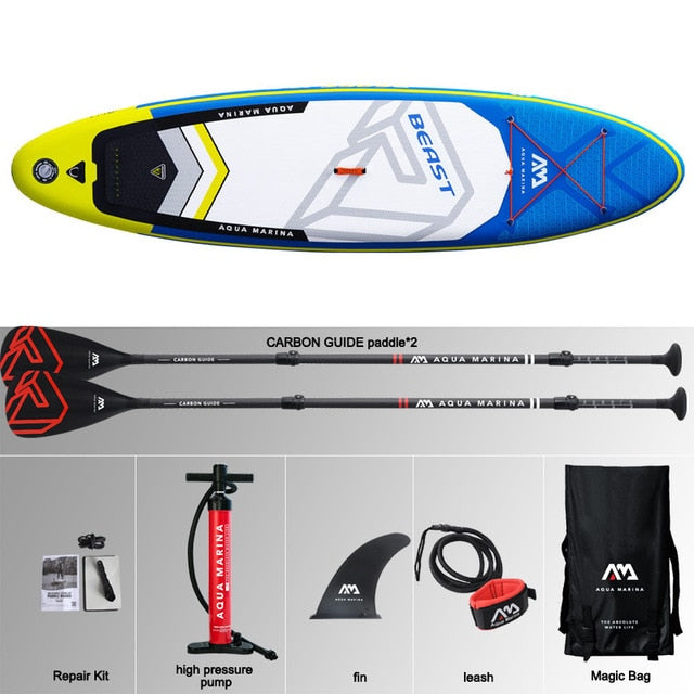 AQUA MARINA BEAST inflatable SUP stand up paddle board - Shoppersbase