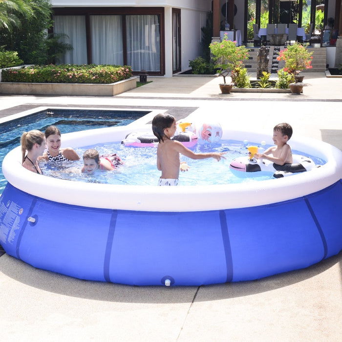 Inflatable Swimming Pool Summer Play Home Use Paddling Pool Large Size - Shoppersbase