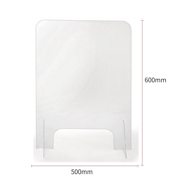 Acrylic Counter Protective Sneeze Guard Clear Spit Shiled With Stand - Shoppersbase