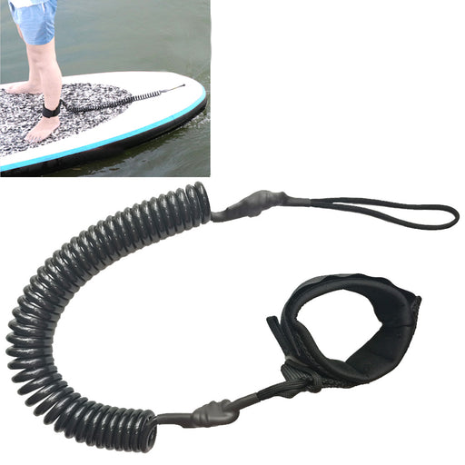 10FT Coiled Surfboard Leash Surfing Stand Up Paddle Board Surf Paddle Board SUP Cord Leash - Shoppersbase