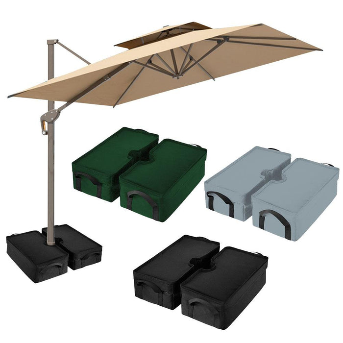 Square Parasol Weight Sand Bag For Outdoor Patio Sunshade Parasol Umbrella Base Base Beach Fishing Camping Umbrella Props - Shoppersbase