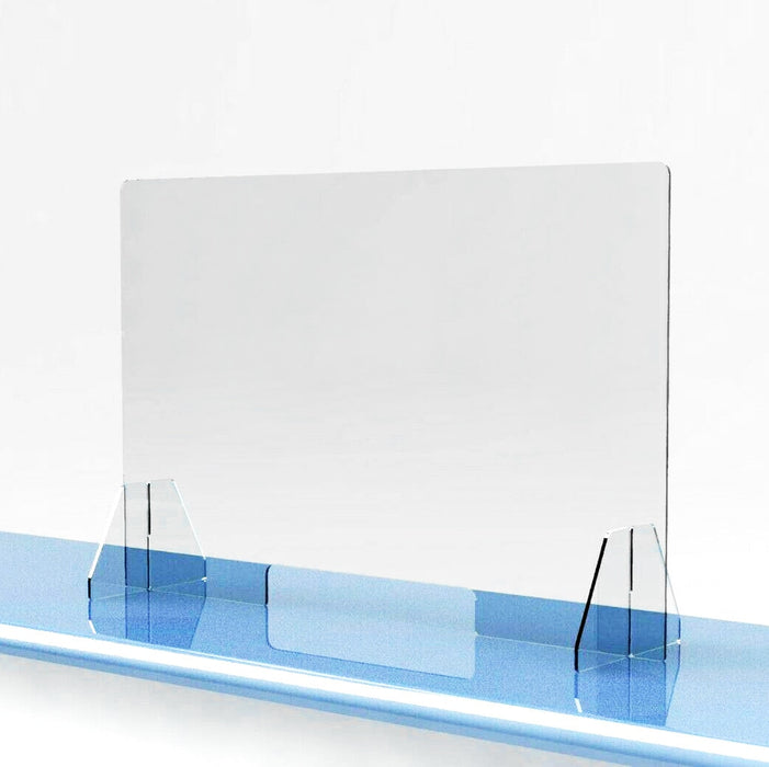 Transparent Antispray Plastic Divider Protection Barrier Counter Desk Sneeze Guard Shield - Shoppersbase