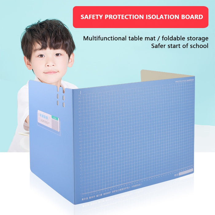 Sneeze Guard Portable Counter Shield for Office Safety, Employees, Workers, Cus isolation plate barrier - Shoppersbase