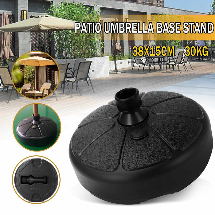 Portable Durable Outdoor Parasol Garden Umbrella Base Stand Round - Shoppersbase