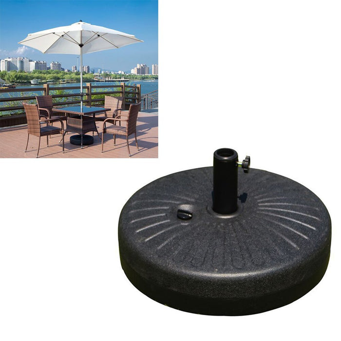 1PC 22L Large Sun Umbrella Base Outdoor Water Injection Parasol Base Plastic Beach Umbrella Fixing Stand for Beach Outdoor - Shoppersbase